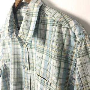 Levi's Mens Plaid Casual Button Front Shirt Sz Lrg